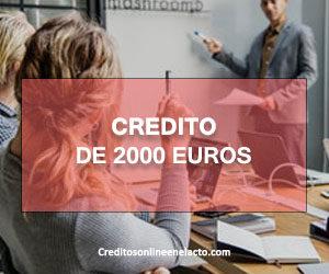 Credito de 2000 euros