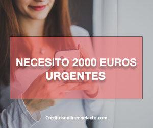 Necesito 2000 euros urgentes