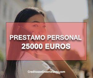 prestamo personal 25000 euros
